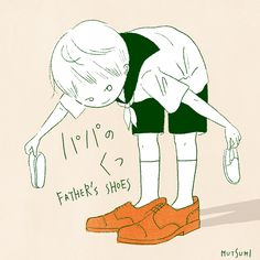 今日は靴の日なのよ👞👟 #illustration #イラスト #靴の日