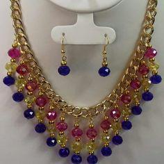 Cute Jewelry, Jewelry Sets, Jewelry Crafts, Handmade Jewelry, Seed Bead Necklace, Diy Necklace, Bead Earrings, Bead Jewellery, Jewelery