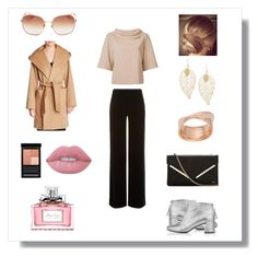 """""""Office Elegance"""" by elena-kononenko ❤ liked on Polyvore featuring Givenchy, McQ by Alexander McQueen, Chloé, Kate Spade, Lime Crime, Trina Turk, Armani Collezioni, MaxMara and Christian Dior"""