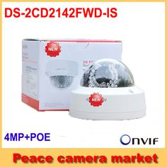 Hikvision Mini Dome IP Camera 4MP International version POE Cameras DS-2CD2142FWD-IS 4mm Waterproof Outdoor IP Camera Security *** AliExpress Affiliate's buyable pin. Detailed information can be found on www.aliexpress.com by clicking on the VISIT button #SecurityAlarms