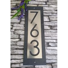 House Address Numbers, Metal House Numbers, House Number Plaque, Address Plaque, Large House Numbers, Bungalow Homes, Home Signs, Home Address Signs, House Front