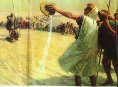 Alexander the Great refuses water in the Gedrosian Desert