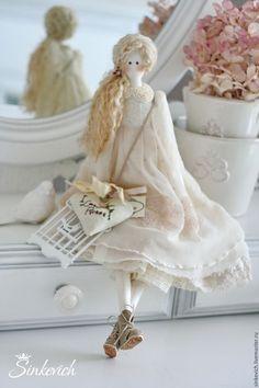 Купить Белль - тильда, кукла ручной работы, кукла интерьерная, кукла текстильная, кукла Тильда