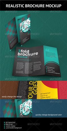 Trifold Brochure Mockup — Photoshop PSD #realistic #editable • Available here → https://graphicriver.net/item/trifold-brochure-mockup/474311?ref=pxcr
