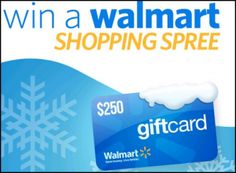 Enter to win $250. to spend at Walmart!