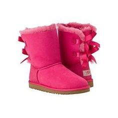 pink bailey bow uggs - Google Search