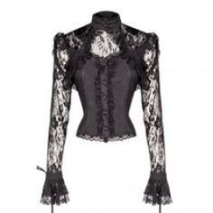 Black Lace Top with Corset Style Lacing