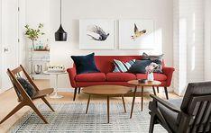 Murphy Sofa in Tatum Poppy - Pop of Color - Room & Board