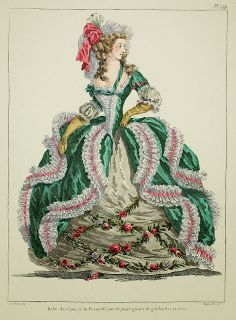 A Most Beguiling Accomplishment: Galerie des Modes, 3e Cahier de Grandes Robes d'Etiquette, 4e Figure