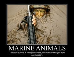 It's required that you keep the muzzle out of the water… (via Do you even Marine, bro?).