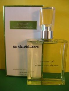 Bath & Body Works Coconut Lime Verbena Perfume EDT Large Full Size  Wonderful mix of Lime and Coconut! Hard to find!
