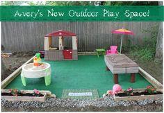 Easy DIY outdoor play space