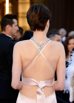 Love the back of Anne Hathaway's dress, at the Oscars