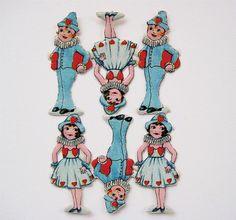 Vintage German Die Cut Scrap - Valentine Boys and Girls