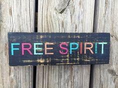 Free Spirit Sign -FREE SHIPPING, Boho Room Decor, Apartment Decor, Bohemian Decor, Boho Decor, Boho Dorm Decor, Valentines Gift for Her $19.99