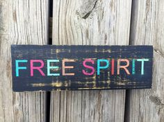 Free Spirit Sign -FREE SHIPPING, Boho Room Decor, Apartment Decor, Bohemian Decor, Boho Decor, Boho Dorm Decor, Valentines Gift for Her $19.99