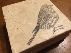 Bird stone coasters on Etsy