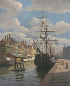 Frederik Wilhelm Svendsen (1885-1975): Port Scene