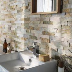 Plaquettes de parement Slim Z gris rosé Castorama pour utilisation salle de bains