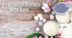 Say bye to your seasonal allergy symptoms with this natural, Homemade Seasonal Allergy Nose Balm. This simple DIY recipe really works and works quickly! Seasonal Allergy Symptoms, Seasonal Allergies, Deodorant Recipes, Homemade Deodorant, Flea Powder For Dogs, Herbal Remedies, Natural Remedies, Natural Antihistamine, Sinus Allergies