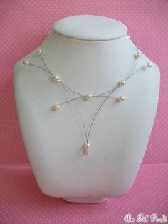 Collier mariage perles nacrées AFPC157