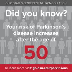 Do you know your risk? Learn more at http://go.osu.edu/parkinsons #parkinsons #didyouknow #awareness #education