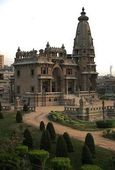 The abandoned Baron Empain Palace Heliopolis, Cairo, Egypt.