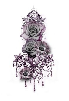Gothic Rose Mandala Chandelier Back Tattoo ideas for Women - Traditional Vintage.Gothic Rose Mandala Chandelier Back Tattoo ideas for Women - Traditional Vintage Cool Unique Geometric Black Floral Flower Sunflower for Spine - rosas góticas ide Diy Tattoo, Tattoo Life, Custom Tattoo, Tattoo Arm, Knot Tattoo, Mandala Wrist Tattoo, Chest Tattoo Dragon, Back Thigh Tattoo, Mandala Tattoo Sleeve Women