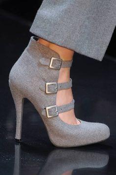 Grey Pant With Cute Grey High Heels  by Fun & Fashion Hub