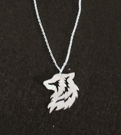 Tribal Wolf Fabric Necklace