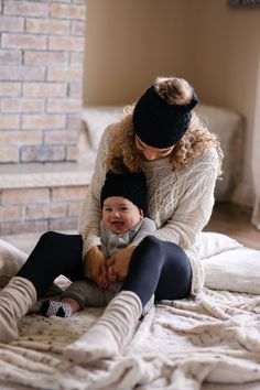 Fall Weekend mother and son matching pom pom hats Mother Baby Photography, Funny Baby Photography, Breastfeeding Photography, Newborn Photography, Mommy And Son, Mom Son, Mom And Baby, Mother Pictures, Baby Pictures