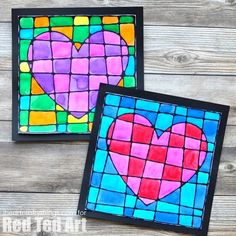 This beautiful black glue Valentine& Day art project is absolutely gorgeous and is a simple way to explore cubism art with children. The mixture of black glue outlines mixed with bright watercolors always creates a frame worthy Valentine& Day art project. Kinder Valentines, Valentine Day Crafts, Valentines Art For Kids, Printable Valentine, Homemade Valentines, Valentine Box, Valentine Wreath, Valentine Ideas, Projects For Kids