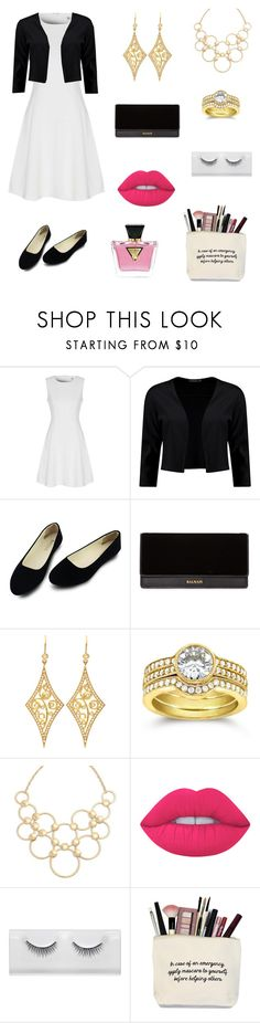 """""""Untitled #37"""" by sabbisbeauty ❤ liked on Polyvore featuring True Decadence, Boohoo, Balmain, Annie Fensterstock, Kobelli, Vera Bradley, Lime Crime and GUESS"""