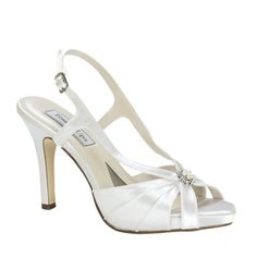 Touch Ups- -Brie White Dress Medium Heel Bridal Wedding Shoes Dyeable Wedding Shoes, Dyeable Shoes, Bridal Shoes, Sandals Wedding, Satin Shoes, Up Shoes, Prom Shoes, Shoes Style, How To Dye Shoes
