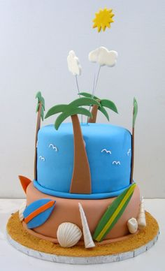 beach theme ideas . I like the clean look of this one.