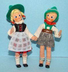 baps children vintage german felt dolls via Flickr