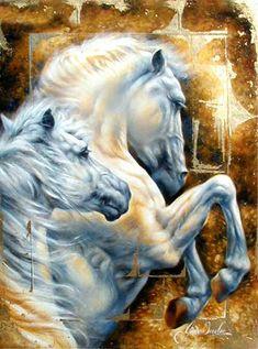 Janice Darr Cua ~ Ladies and horses | Tutt'Art@ | Pittura * Scultura * Poesia * Musica |