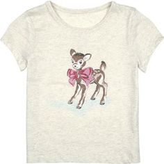 Our adorable deer print adorns this t-shirt, which looks lovely teamed with denim and a pretty cardigan.