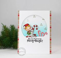Card by Isha Gupta for SugarPea Designs.  Stamps: Merry Makers.  SugarCut Dies: Merry Makers, Funky Wreaths - Christmas.  Christmas Card