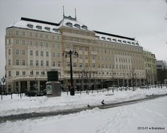 Snowfall in the old town hotel Carlton, Bratislava Slovakia Old Town Hotels, Bratislava Slovakia, European Countries, Central Europe, Czech Republic, Hungary, Winter Wonderland, Austria, Poland