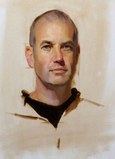 """""""David"""" - Wet on wet painting, portraits by Louis Smith"""