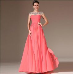 2014 Cap Sleeve Sheer Back Beaded Evening Dresses Evening Dresses | Buy Wholesale On Line Direct from China
