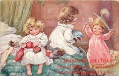 Ada Leonora Bowley - English - (1866-1943) vintage Christmas postcard