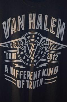 Van Halen 2012 Tour A Different Kind of Truth Concert T Shirt | April 29, 2012 - Scottrade Center, St. Louis, MO