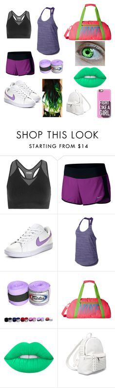 """""""She-Hulk"""" by karabear3256 ❤ liked on Polyvore featuring Ivy Park, NIKE, Lime Crime, 7 Chi and Casetify"""