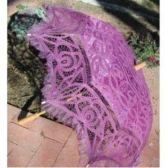 Purple Parasol W/organza Lace,$36.99