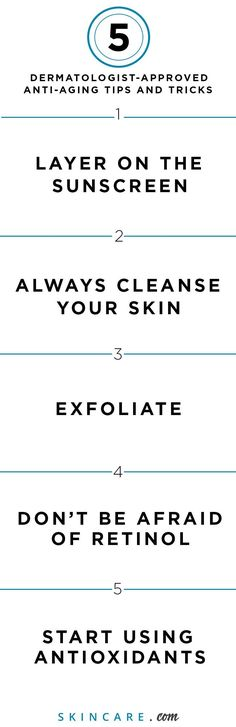 When it comes to aging skin, a good anti-aging skin care routine that combats premature signs of aging, like dark spots, wrinkles, fine lines, and dry— read: dull— skin, is the secret to aging gracefully. From a sunscreen that can protect your skin from the skin damaging effects of the sun's rays to cleansing to exfoliating and using our favorite anti-aging ingredient (retinol), we share our 5 best anti-aging tips here. | Powered by L'Oréal