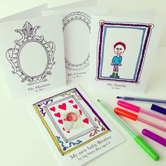 pack of four colour in art gallery cards by claire close | notonthehighstreet.com