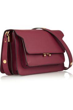 Marni|Trunk leather shoulder bag|