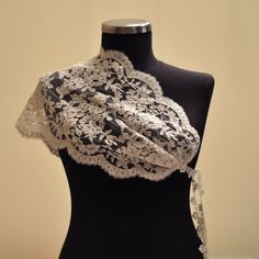 French Lace Ivory Bridal Butterfly Shrug by trendyknitting on Etsy